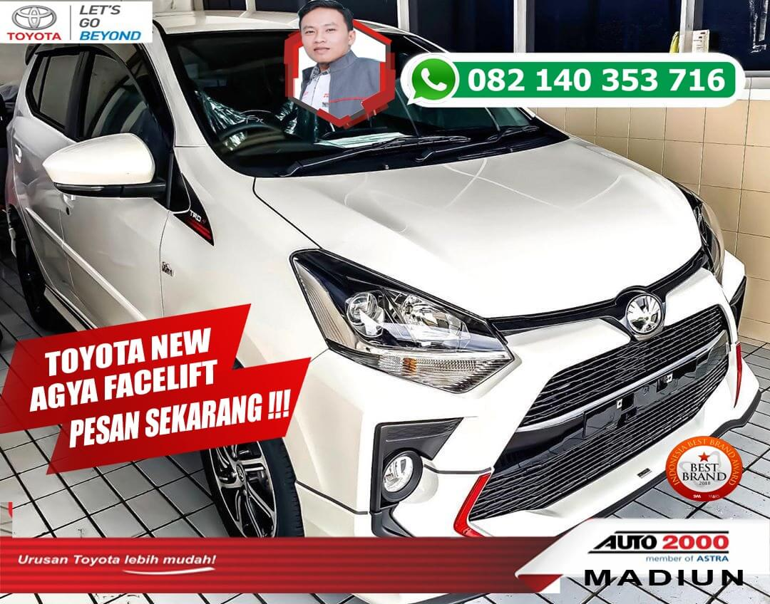 Open Indent New Agya Facelift 2020 di Dealer Toyota Madiun
